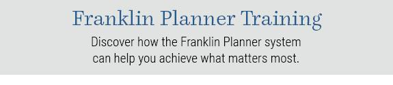 Franklin Planner Training